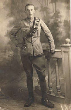 Fred Fellinghamin Norfolk Regiment WWI Uniform
