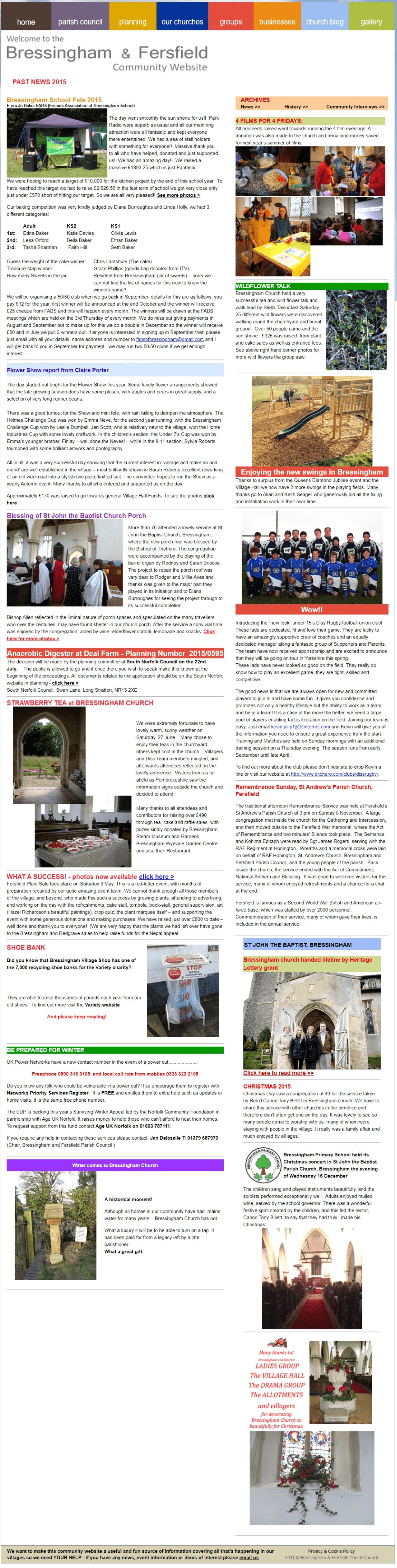 Past News 2015 - New Swings
