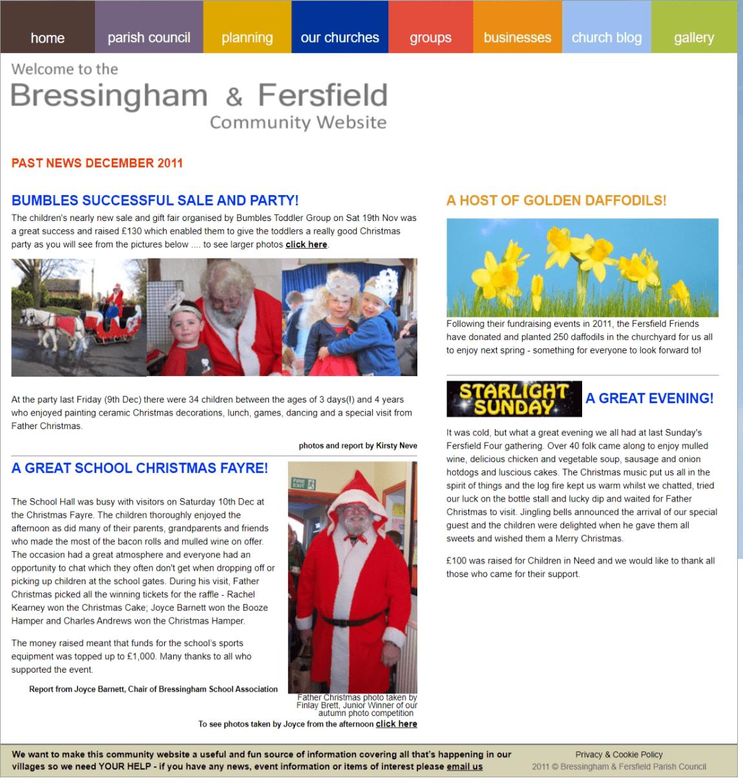 Past News Dec 2011 Christmas Fayre