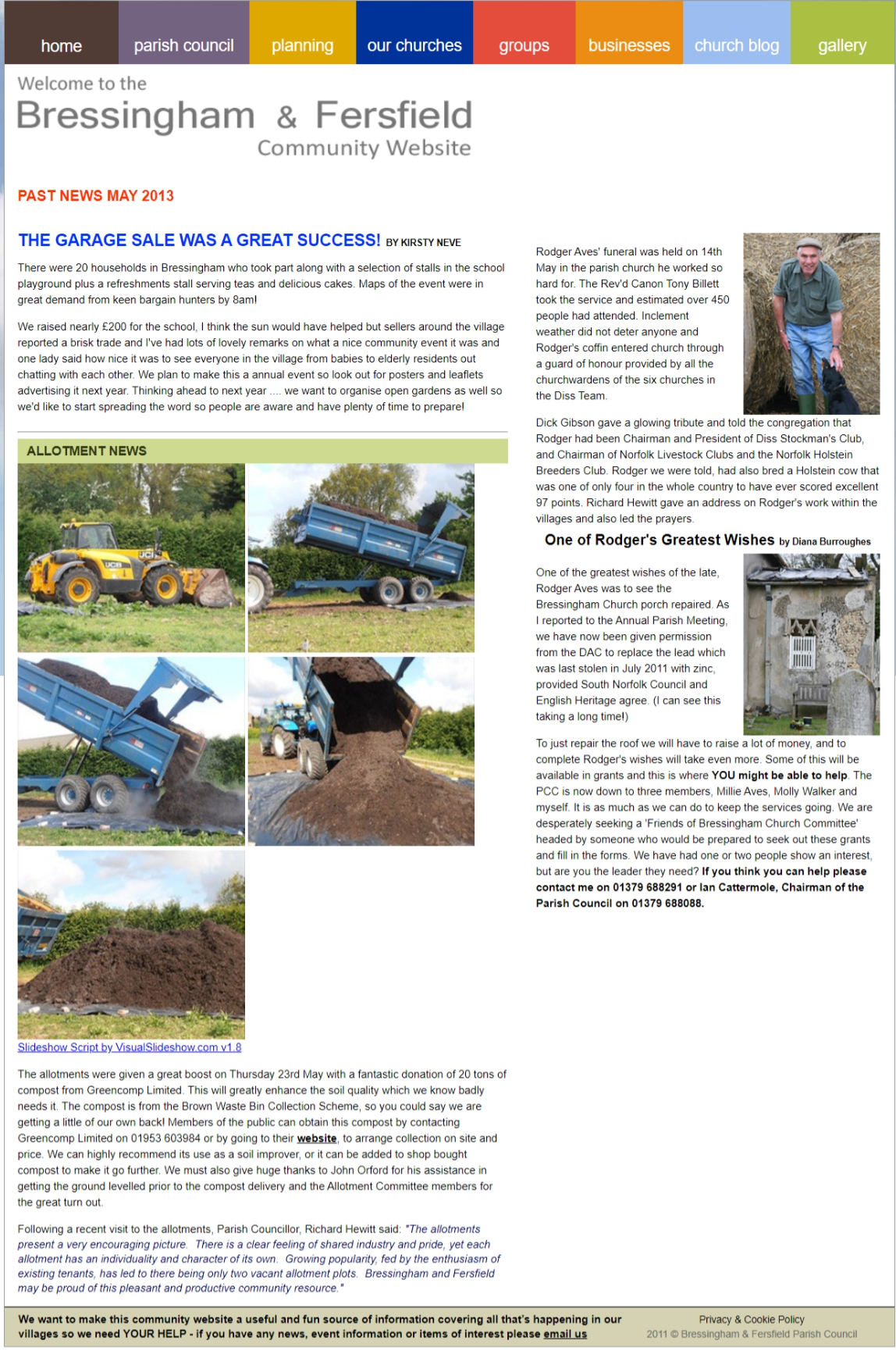 Past News May 2013 - Allotment Boost