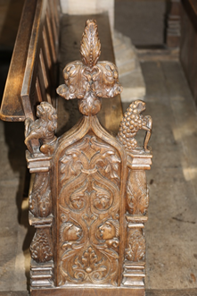 Image of St John the Baptist pew end